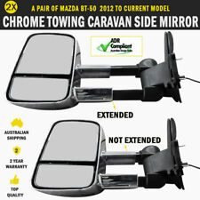 NEW Electric Extendable Towing Caravan Side Mirrors Pair Mazda BT 50 Series