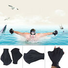 Practical 1 Pair Swimming Webbed Gloves Hand Webbed Frog Finger Fins Paddle Palm
