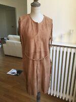 Trés belle robe ANTIK BATIK taille S/38 en cuir daim marron neuve et étiqueté