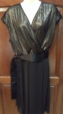 Narciso Rodriguez Black & Bronze Sequin Dress size XL, New W Tags!