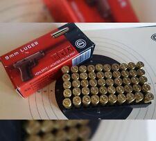 Deko Patronen 50 Stück für Kaliber 9mm  Geschoss Original, Absolut ungefährlich!