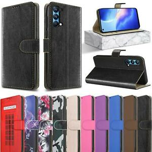 For OPPO Find X3 Lite Case, Slim Magnetic Flip Leather Wallet Stand Phone Cover