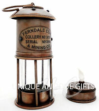 "7"" Ship Lantern Nautical Lantern Marine Antique brass oil lamp"