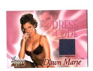 WWE Dawn Marie Fleer 2003 Divine Divas Dress Code Event Worn Clothing Card
