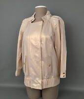 BADGLEY MISCHKA Women's Metallic-Gold 3/4 Sleeve Front Zipper Jacket Sz.MD-RARE!