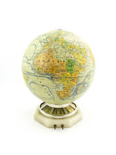 Extremely rare Jaeger-LeCoultre MAPPEMONDE 8 days globe clock with light, 1935