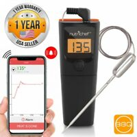 NutriChef PWIRBBQ90 Bluetooth Wireless Meat Thermometer, Temperature Probe