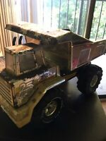 Vintage mighty Tonka dump truck 25 Years Silver Edition 1990 Presses Steel Used
