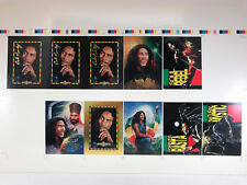 BOB MARLEY TRADING CARDS: UNCUT SHEET of CHASE CARDS: GOLD FOIL, ART & EMBOSSED