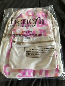 Benefit Cosmetics  2019 Branded Backpack TOA175 Brand New