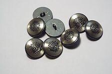 8pc 20mm étain argent allemand métallique de style militaire blazer cardigan bouton 2871