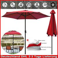 2.7m Sonnenschirm Ampelschirm UV 50+ Kurbelschirm Marktschirm Strandschirm rot