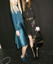 Versace Blue Satin Shift Dress Size 46