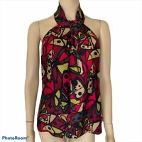 Trina Turk 100% Silk Butterfly Halter Blouse Women's Size 6 New With Tags