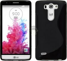 Black S Line Gel TPU Silicone Case Cover Skin For LG G3 Beat Vigor D725 for AT&T