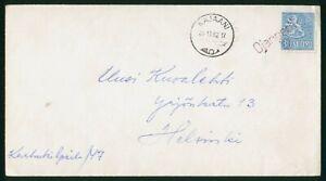 Mayfairstamps Finland 1962 Kajaani to Helsinki Cover wwo_60193