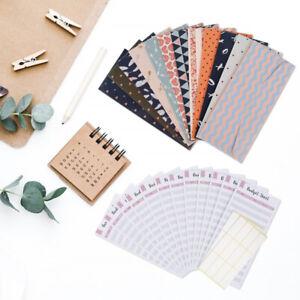 12X Cash Envelopes Assorted Money Saving Wallet Spend Plan Budget Envelopes GR