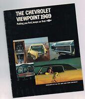 1969 Chevy Brochure: CHEVELLE,SS-396,NOVA,CORVAIR,CORVETTE,2 II,CAMARO,Wagons,