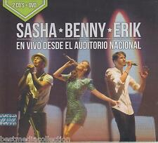 Sasha Benny Erik CD NEW En Vivo Desde El Auditorio Nacional DELUXE CD DVD SEALED