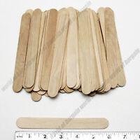 "50 pcs JUMBO WOODEN POPSICLE STICKS 6 x 3/4"" Wood Craft Stick School Art C009"