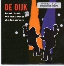 (BG400) De Dijk, Laat Het Vanavond Gebeuren - 1997 CD
