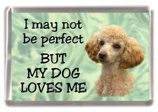 """Poodle Dog Fridge Magnet No.5.   """"I may not be perfect BUT ..."""" by Starprint"""
