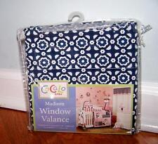 COCALO BABY MADISON NURSERY VALANCE WINDOW CURTAIN PINK BLUE WHITE FLOWERS