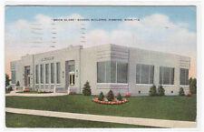 Brick Glass School Building Hibbing Minnesota 1940 postcard