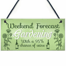 Garden Novelty Hanging Plaque SummerHouse GardenShed Wine Friend Gift For Women