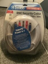 SWANN - PRO SERIES HD BNC SECURITY CABLE  100ft  (Weather Proof)