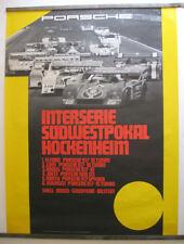 Vintage 1973 Porsche Interserie Hockenheim Showroom Victory Poster Rare 917