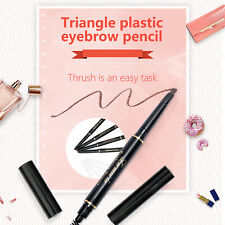 Triangle Eyebrow Pencil Waterproof with Brush 5 Colors Drawing Eye Brow Pencil