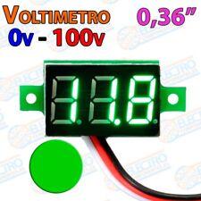 Mini Voltimetro 100v DC 0,36 Pulgadas 3 hilos - VERDE - Arduino Electronica DIY