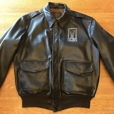 USAF 21st Century A-2 Air Force Memorial Brown Leather Jacket Cockpit USA Sz 42