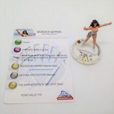Heroclix DC75th Anniversary set Wonder Woman (White Lantern) #W-8 Chase w/card