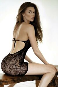 KILLER LEGS Lace Fishnet Fever Bodystocking Dress