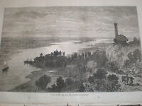 Valley of the Loire with lanterne de Rochecorbon France 1871 old print ref Z3