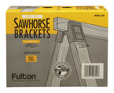 Fulton  2 in. H x 4 in. W Sawhorse Brackets  400 lb. capacity Black  1 pk