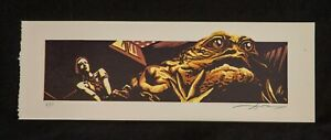 AJ Masthay We Have Powerful Friends Star Wars Woodcut printing 21/40 HCG Signed
