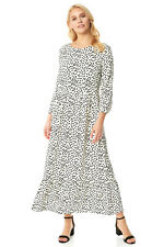 Polka Dot Print Tiered Maxi Dress - Roman Originals Women
