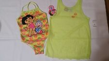 DORA THE EXPLORER GIRLS BATHING SUIT WITH COVER UP DRESS SIZE 6