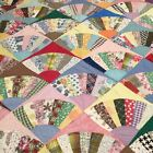 VINTAGE HAND MADE Grannys Fan Quilt #612