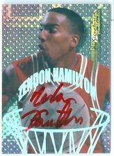 1998 COLLECTOR'S EDGE (BK) Zendon Hamilton SP ON-CARD RC/ROOKIE RED INK AUTO #18