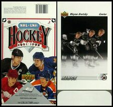 "1991-92 Upper Deck Hockey - Empty Display Box - 5"" x 7"" Wayne Gretzky on Bottom"
