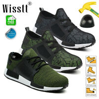 Men Shoes Work Sneakers Air Safety Boots Steel Toe Indestructible Puncture Proof