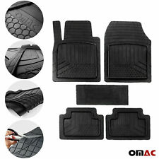 OMAC Car Floor Mats for All Weather Rubber Semi Custom Black Heavy Duty Fits Set