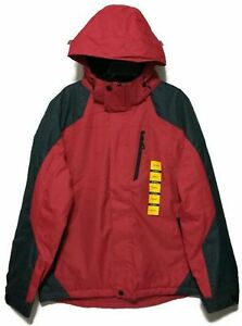 ZeroXposur Men's Size Medium Mid-Weight Detachable Hooded Jacket,Inferno (wp1