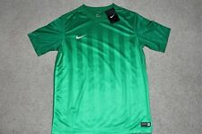 Nwt Youth Child Sz Small Nike Dri Fit Soccer Division Ii Striped Green Jersey