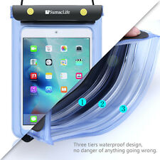 Blue Waterproof Tablet Pouch Dry Bag Case Cover Transparent For Apple IPad 9.7""