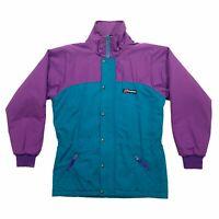 Berghaus Quilted Coat Jacket | Vintage 90s Designer Activewear Green Purple VTG